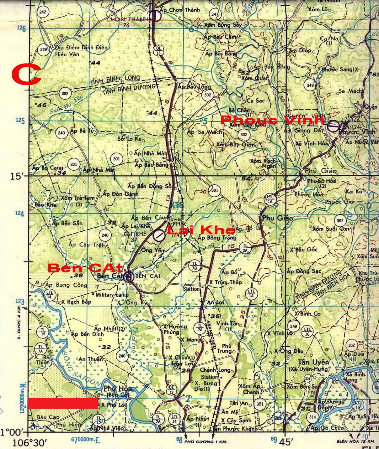 Lai Khe Vietnam Map.Cmap Ben Cat Phu Loi
